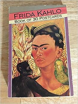 frida kahlo book of 30 postcards