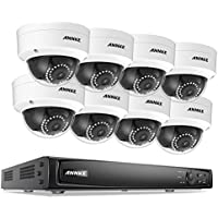 ANNKE Full 1080P POE Security Camera System 16 Channel 2MP/4MP/6MP NVR Recorder and (8) HD 2.0MP 1920TVL Bullet IP Cameras, Motion Activated Mobile App Remote View