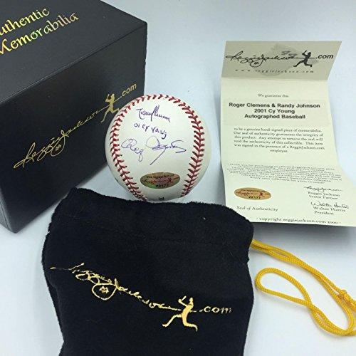 Beautiful Randy Johnson & Roger Clemens 2001 Cy Young Award Signed Baseball - Young Award Cy
