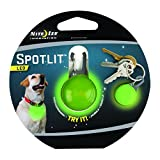 Nite Ize SpotLit Clip-On LED Light with Carabiner, Weather Resistant, Round Package, Lime
