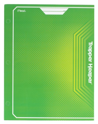 Mead Trapper Keeper 2-Pocket Portfolio, 12 x 9.38 x .12 Inches, Green (72648)
