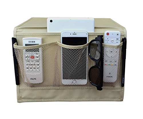 iloveshop bedside storage organizer/beside caddy/table cabinet storage organizer tablet magazine phone remotes - all within arms reach (khaki)