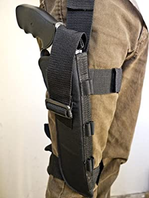 """Outbags OB-12TAC Nylon Tactical Drop Leg Holster for Colt Dan Wesson 357 8"""", S&W 29 / 629 8"""", S&W 500, 460XVR, S&W Model 27 8-3/8"""", Most 8"""" Revolvers"""