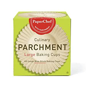 PaperChef 70060 Culinary Parchment Baking Cups, Large