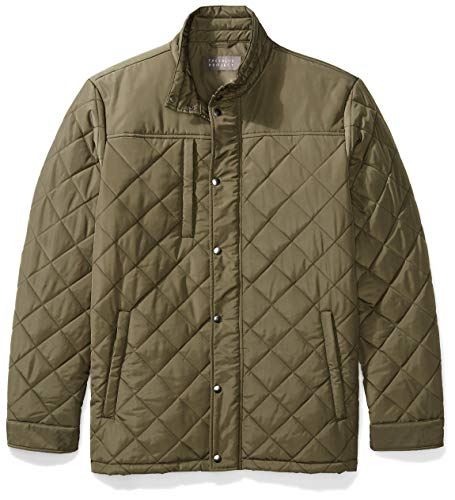 - The Plus Project Mens Quilted Winter Coat, Plus Size Water Resistant Puffer Insulated Work Warm Windproof Jacket 4X-Large Loden