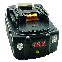 Waitley 18V 6.0Ah battery Makita BL1830 BL1830USB BL1840 BL1850 BL1860 194204-5 18Volt 6000mAh Lithium-Ion Replacement Battery for Makita Tools