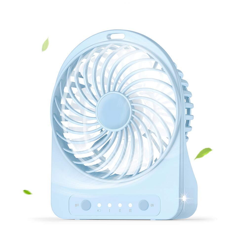 Mini Fan Portable Desktop Fan Personal Desk Fan USB Fan Cooling Fan for Office Home and Travel (3 Speed) by Fan-wyx