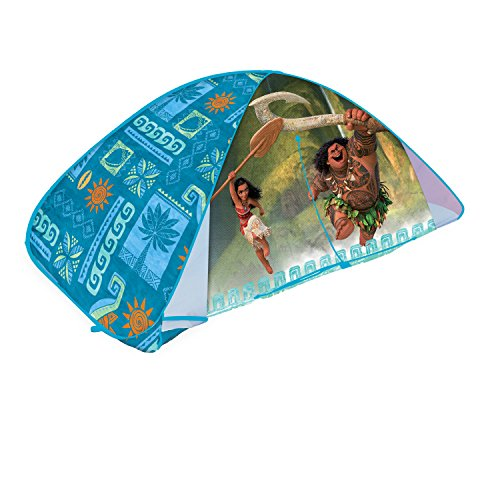 "Play Hut Moana 2-in-1 Bed Tent, Teal, 72"" x 35"" x 35"""