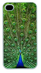 Beautiful Proud As A Peacock DIY Hard Shell White iphone 4/4s Case Perfect By Custom Service