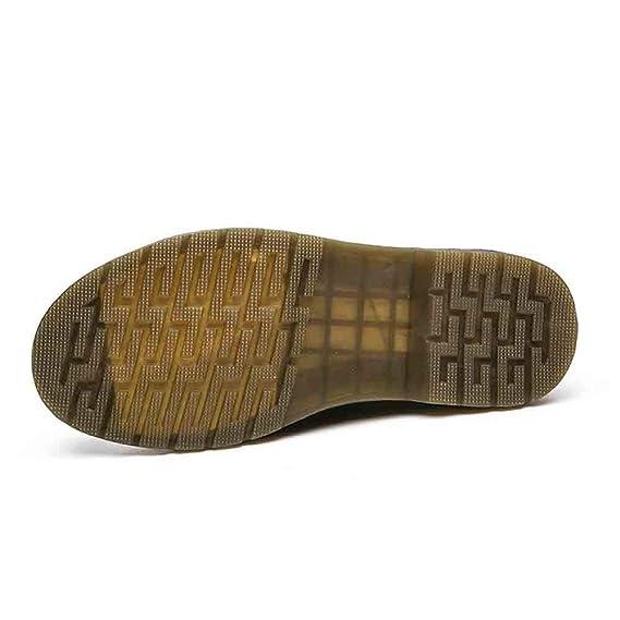 ZARLLE_Botas Botas,ZARLLE Mujer Unisex Botas Zapatos Invierno Impermeable Botas de Nieve Pareja Inglaterra Vintage Motos de Herramientas Botas Planas ...