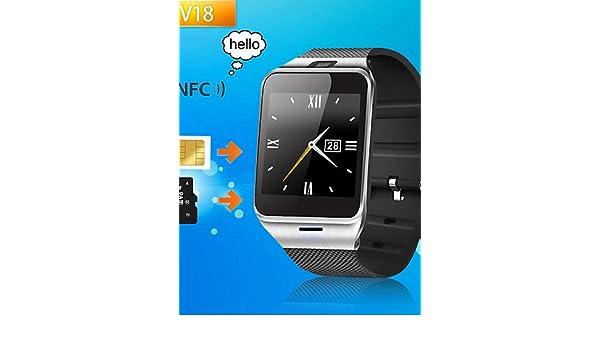 zzll8451 Primero Bluetooth NFC gv18 Reloj Inteligente cámara ...