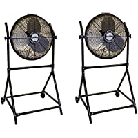 Air King 18-Inch 1/6 HP Floor Fan with Roll-About Stand (2 Pack)