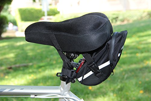 Bike Accessories & Cycling Equipment Set : Bicycle Phone Handlebar Mount (iPhone, Samsung, Etc.), Water Backpack, Bicycles Seats Cushion Cover, Under Seat Pouch, Bikes Repair Tool Kit, Mini Pump by BvBbicycle (Image #6)