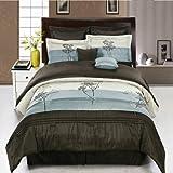 King Size Blue Portland Luxury 8-Piece Comforter Set