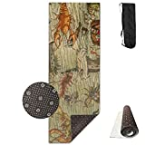 Marine Animal Pirate Yoga Mat - Advanced Yoga Mat - Non-Slip Lining - Easy To Clean - Latex-Free - Lightweight And Durable - Long 180 Width 61cm