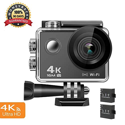 4K Action Camera, 16MP WiFi Ultra HD Anti-Shake 30M Underwater Waterproof Camera Sports Camcorder with 170° Degree Wide Angle Lens and 2.0 Inch LCD Screen and high-tech Sensor For Sale