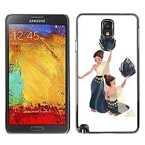Shell-Star Art & Design plastique dur Coque de protection rigide pour Cas Case pour SAMSUNG Galaxy Note 3 III / N9000 / N9005 ( Dance National Native Women Painting Art )