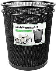 Greenco GRC2586 Mesh Round Wastebasket Trash Can, 4.5 galones, negro, paquete de 2