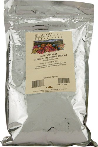 Organic Alfalfa Leaf Powder - Starwest Botanicals Organic Alfalfa Leaf Powder -- 1 lb - 2pc