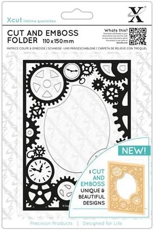 110x150mm Steampunk Cogs Xcut Cut /& Emboss Scrapbook Paper Craft Folder