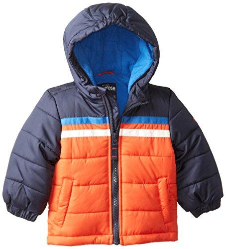 Osh Kosh Baby Boys' Bubble Jacket, Orange, 12 Months