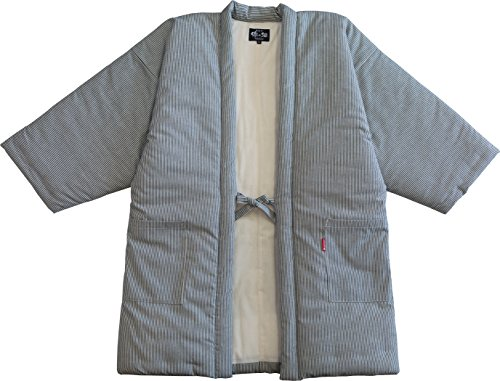 본고장 구루메 수제의 히코리무늬(대형)LL사이즈 한텐・겉옷・소매없는 상의 리뉴얼