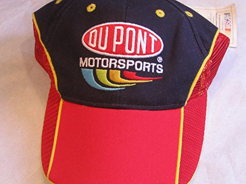 Jeff-Gordon-24-Chase-Authentics-Blue-Red-Dupont-Motorsports-Partial-Red-Mesh-Cap-Hat-One-Size-Fits-Most-OSFM-Adjustable-Velcro-Strap