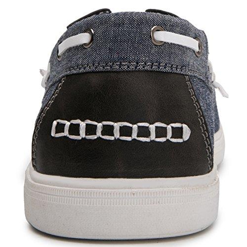 Global Vinna Globalwin Man Tillfälliga Loafers Snörning Klassiska Drivande Båt Skor Blå Grey1665