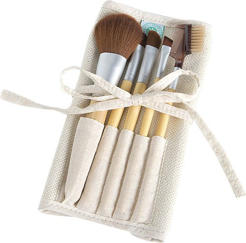 Honeybee Gardens Eco Friendly Professional Cosmetic Brush Set | Cruelty Free | Sustainable Bamboo Handles | Professional Quality