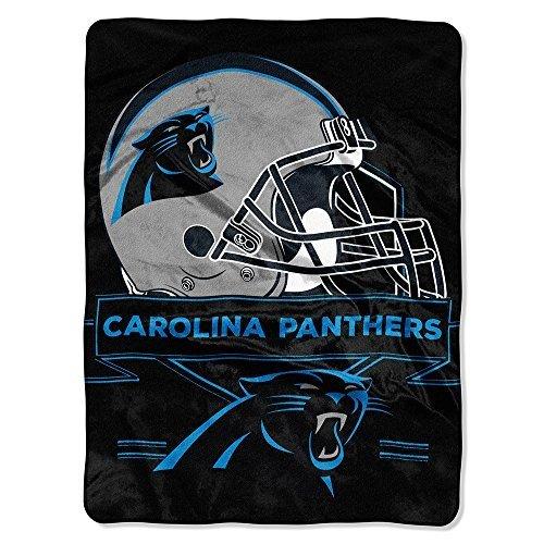 NFL Licensed Carolina Panthers Prestige Royal Plush Raschel Fleece Throw Blanket 60