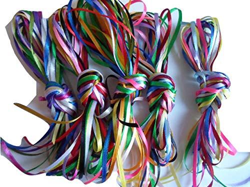 "3mm x 1m x 10 1//8/"" double sided satin ribbon Assorted UK VAT Reg"