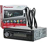 2017 Pioneer Single DIN 1DIN Car Stereo MP3 CD Player USB Aux-IN Bluetooth Dash + 3.5mm Aux Cable