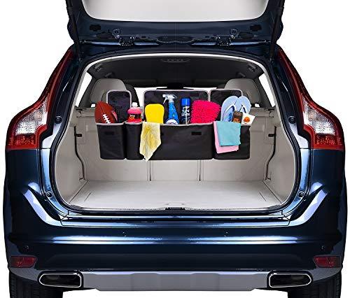 DIDIBABA Car Back seat Organizer Travel Storage Bag 4 Compartment Multi Pocket Car Trunk Organizer Car Holders for SUV,Truck,Auto,Minivan
