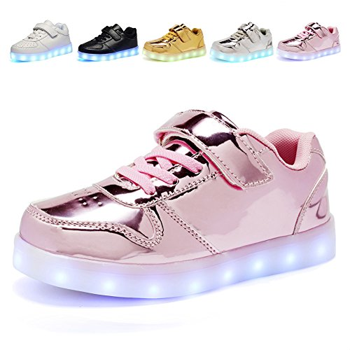 CIOR Kids Boy and Girl's 11 Color Led Sneakers Light Up Flashing Shoes,103,L06,28