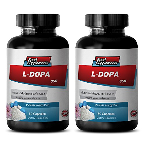 Mood elevator natures sunshine - L-DOPA (MUCUNA PRURIENS EXTRACT) 350 Mg - Mucuna nervine tonic - 2 Bottles 120 Capsules by Sport Supplements