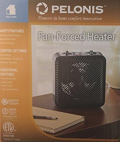 Pelonis Fan-Forced Heater Black Model HF-1008B