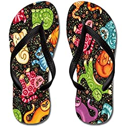 CafePress - Flipping Cat - Flip Flops, Funny Thong Sandals, Beach Sandals