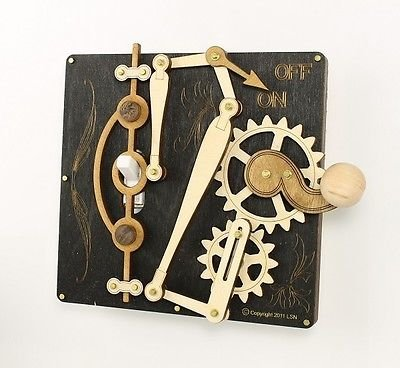 - Green Tree Jewelry Single Lever Black Wood Light Switch Plate
