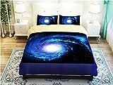 LELVA Galactic Cosmic Pattern Bedding Sets, Bedding Sets Moon, Kids Bedding Boys, Duvet Cover Set, Twin Full Queen Size (2, Twin)