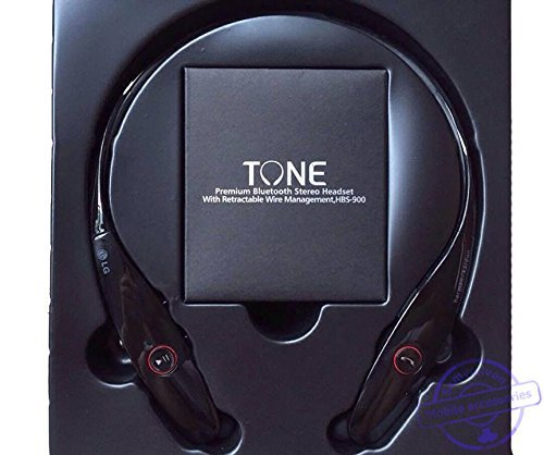 LG Tone HBS-900 Infinim Bluetooth Stereo Headset - Red Black