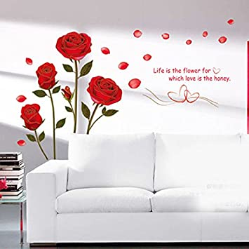 Sedeta flower quote wall sticker mural home decor paste the decal without any messy vinyl wall