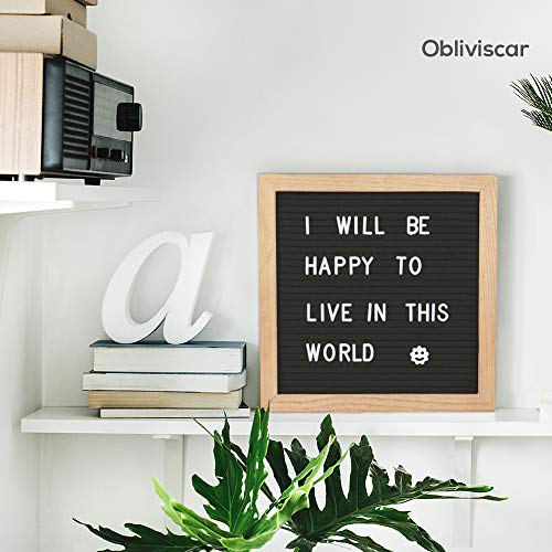 Felt Letter Board with Letters - 510 Pre Cut Letters Classified According to A~Z 0~9 Emojis, 10X10 Letter Board Message Board Letter Boards Word Board with Stand +Sorting Tray +Wall Mount +Gift Box. Photo #2