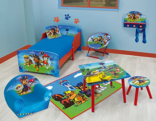 Fun House 712533 - Mesita de Noche (Madera de contrachapado de Densidad Media, 33 x 30 x 36 cm), diseño de La Patrulla Canina, Color Azul