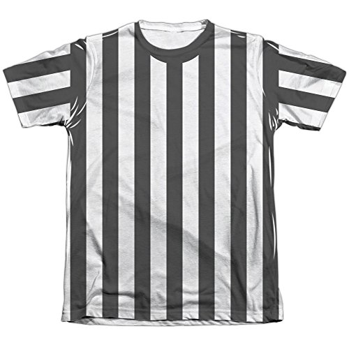 Referee Shirt Unisex Adult Front Only Poly/Cotton Sublimated T Shirt for Men and Women -