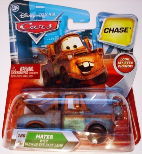 Disney / Pixar Cars Movie 155 Die Cast Car with Lenticular Eyes Series 2 GlowInTheDark Lamp Mater Chase - Light Disney Ghost Pixar Cars