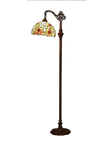 Dapengzhanchi Lámpara de pie Tiffany, iluminación Ajustable ...