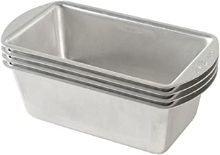 product image for Nordic Ware Natural Aluminum Commercial Mini Loaf Pans, Four 2-Cup Pans