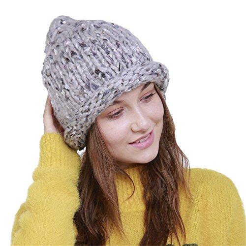 Laine Femme Bonnet Fil Tresser Automne Chapeau De Tricot Gris Claire Gros Acvip Hiver dp0wqgCxp