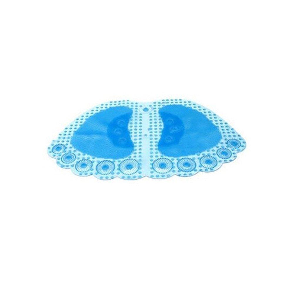 Blu Trasparente Tappetino WC 60 x 35 cm Tappeto per Bambini e Adulti Bel Design Faneli Tappetino da Bagno Antiscivolo