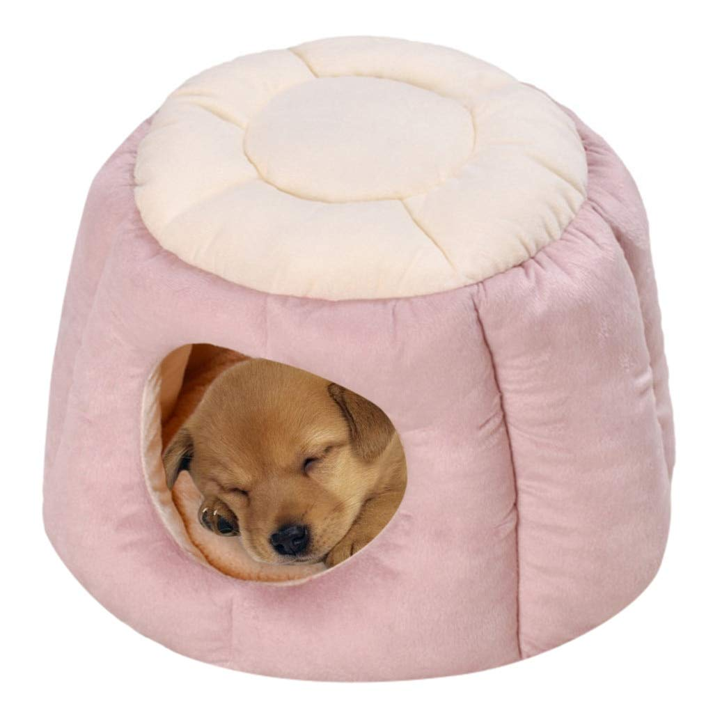 CARBE kennelHouse Cloth Pet Bed Tent Kennel Indoor Puppy Mat Cave Pet Supplies M PK